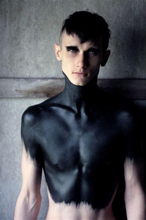 tattoo on black body black body paint metal men pinterest