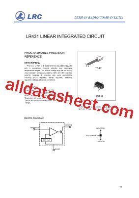 Kec Kia324p lr431 datasheet pdf leshan radio company