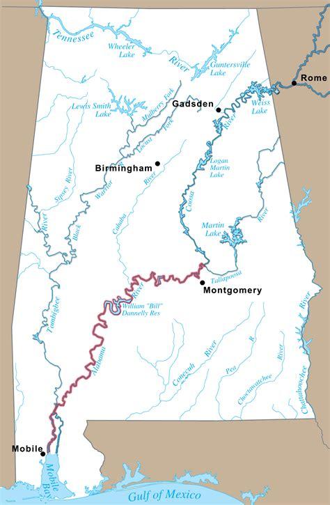 and alabama map alabama river coosa alabama river improvement assn
