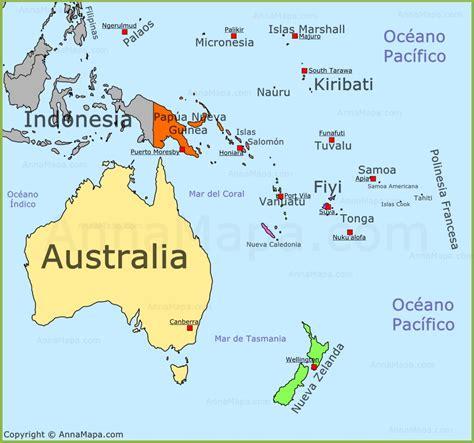 australia and oceania map mapa de 237 a mapa politico de 237 a pa 237 ses de