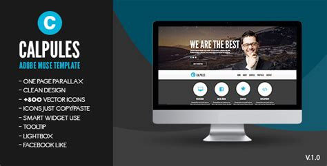 calpules adobe muse template muse templates themeforest