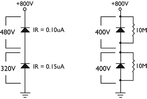 diodes and resistors in series from the q and a nuts volts magazine for the electronics hobbyist