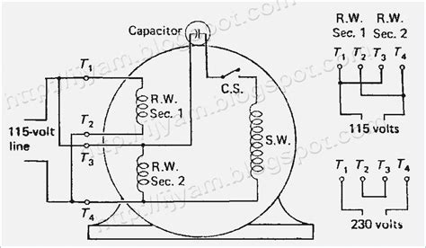 electric motor capacitor wiring diagram electrical circuit schematic diagram of capacitor start fasett info