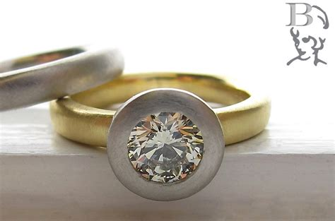 unique engagement rings wedding bands from etsy yellow