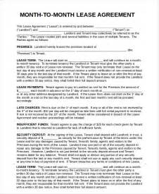 month to month lease agreement template printable rental agreement 7 free word pdf documents