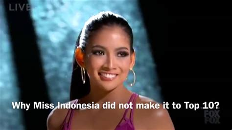 Top Anindya why miss indonesia did not make it to top 10 of miss