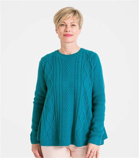 swing jumpers persian teal wool blend men s cable front swing jumper