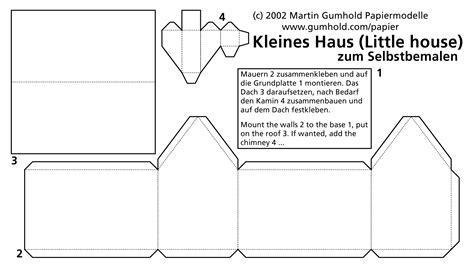 haus aus papier selber basteln mags papiermodelle card models