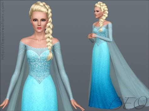 Dress Elsa White Gmb frozen dress and by beo pay sims 3 downloads cc caboodle clothing frozen