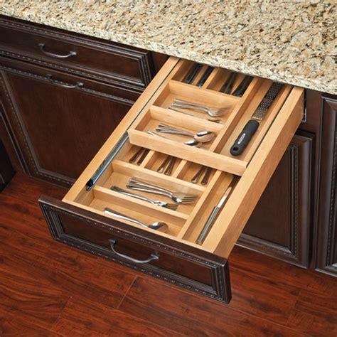 drawer organizers rev a shelf two tiered kitchen cutlery