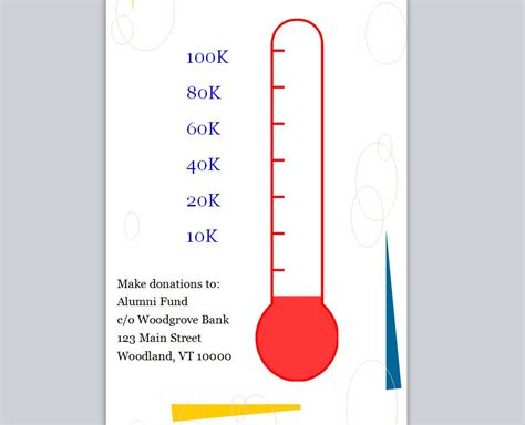 fundraising goal chart template best photos of sales goal thermometer template