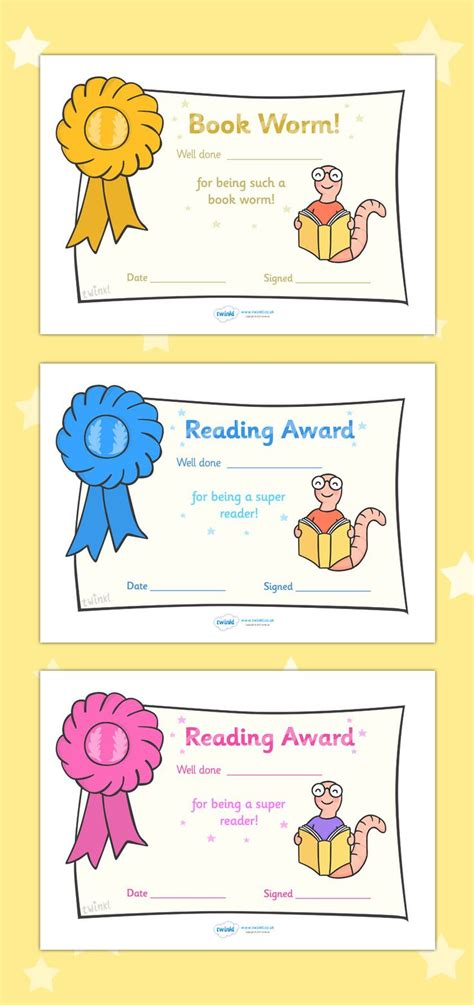 twinkl resources gt gt editable reading award certificates