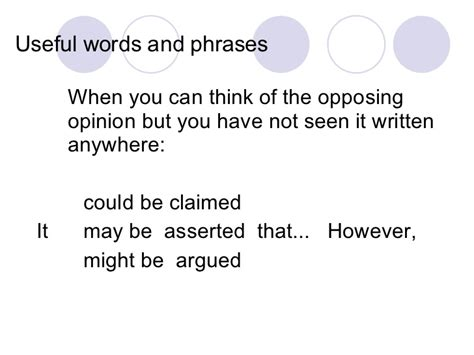 Useful Phrases Essays by Argumentative Essay Useful Language