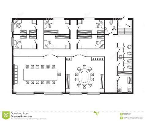 arri鑽e plan bureau gratuit les meubles de plan architectural de bureau et le dessin d