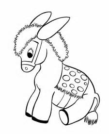 Farm Animal Coloring Pages  Printable Stuffed Donkey sketch template