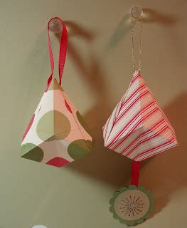 Origami Bell - artful imagination origami bell ornaments