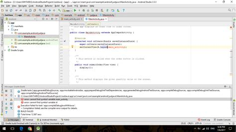 android studio r layout activity main error java cannot find symbol variable activity main stack