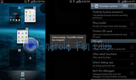 how to fix quot touchwiz home has stopped quot error on samsung