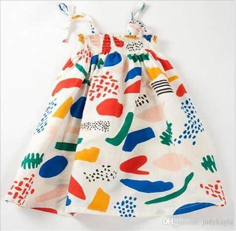 cheap 2016 new summer graffiti sling dress children princess suspender dresses