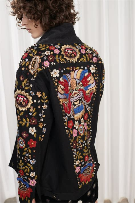 embroidery jacket mazie floral embroidered denim jacket collections