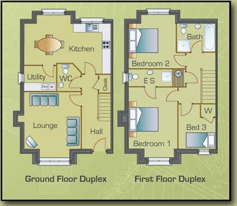 3 Bedrooms Duplex House Design Floor Plan Of Three Bedroom Duplexes At Cill Gr 233 Ine