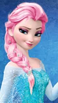 elsa hair color elsa pink hair color frozen photo 37178051 fanpop