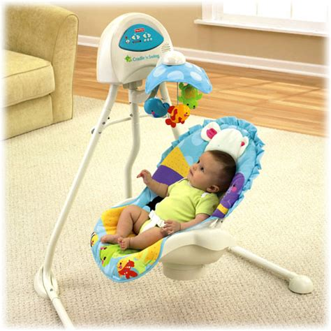fisher price precious planet cradle swing object moved