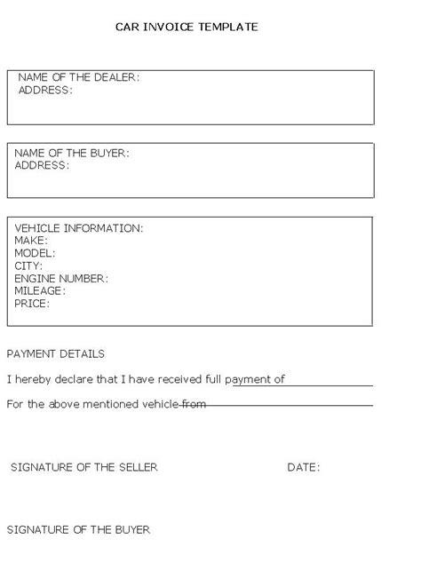 receipt for car sale template australia sale receipt template kinoroom club