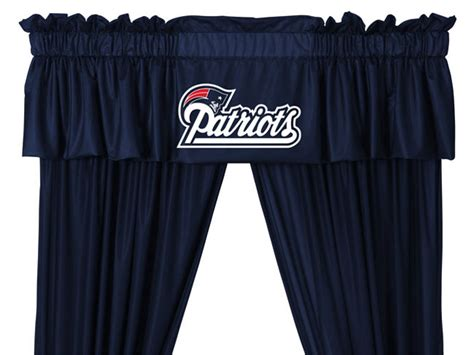 new england patriots curtains nfl new england patriots 5pc jersey drapes curtains and
