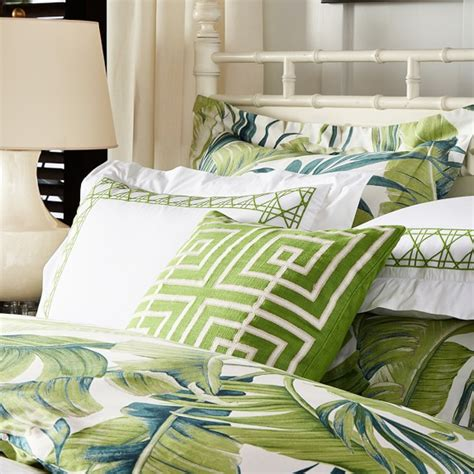 sonoma bedding tropical leaf bedding green williams sonoma
