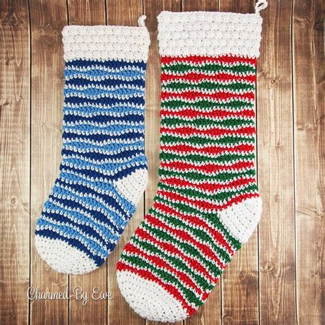 pattern for extra large christmas stocking holly jolly holiday crochet stocking allfreecrochet com