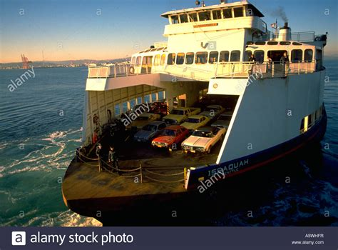 ferry boat with cars painet hk2886 seattle washington boat ferry ferryboat cars