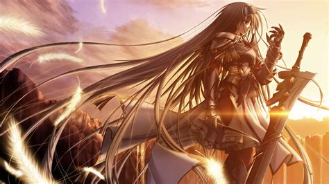 anime wallpaper hd 1600 x 900 download wallpaper 1600x900 golden sun anime girl hd