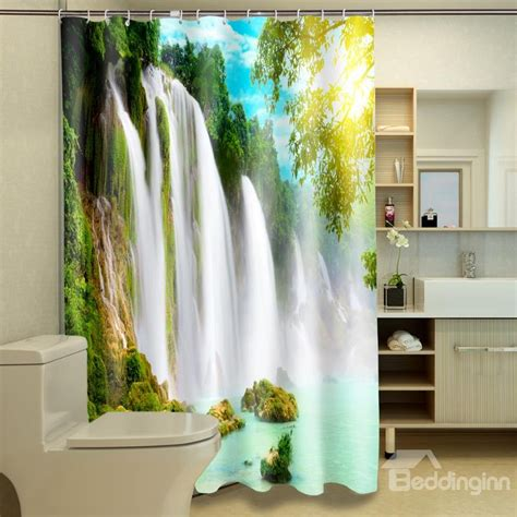 waterfall shower curtains new arrival fascinating waterfall print polyester 3d