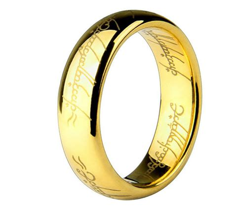 18k gold plated stainless steel lord of the rings ring