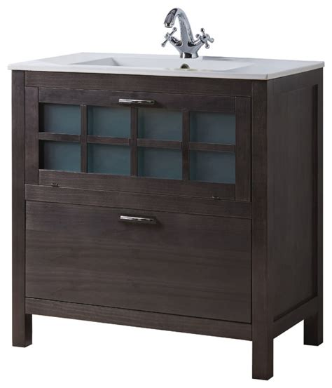 Asian Bathroom Vanities Macral Niza 32 Quot Bathroom Vanity Grey Anthracite Asian Bathroom Vanities And Sink Consoles