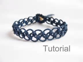 tutorial macrame bracelet pattern pdf easy navy blue knotted