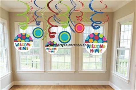welcome home party decorations welcome home party ideas hanging swirls decorations