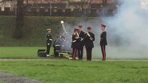 Neil Warnock Raglan royal gun salute held at cardiff castle for anniversary of