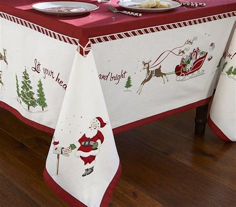 christmas tablecloth pottery barn kids christmas