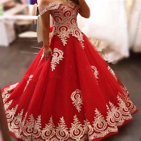 gold lace appliques long sleeves white tulle ball gowns wedding dress 2017 red gold long muslim wedding dresses off the shoulder