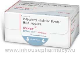 Onbrez Breezhaler 300mcg onbrez breezhaler indacaterol 150mcg 30 capsules pack indacaterol
