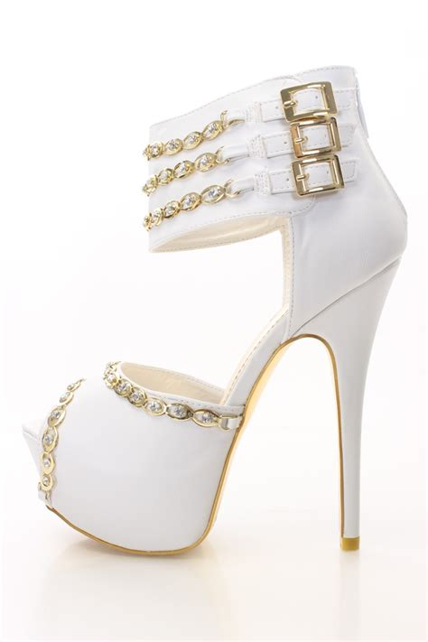 white and gold white and gold heels