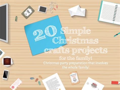 20 simple christmas craft projects for the family