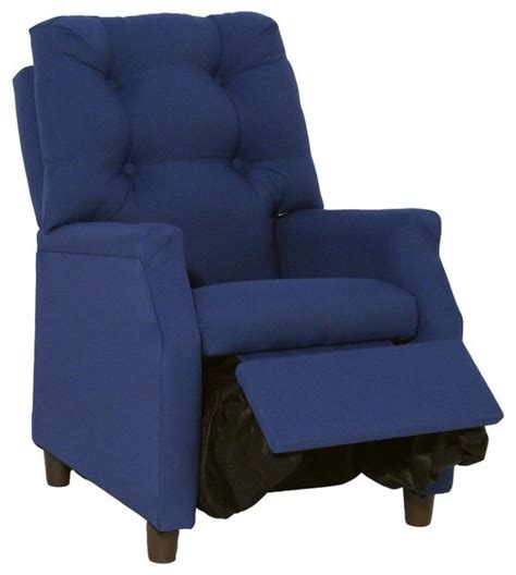 Harmony Kids Deluxe Recliner Dark Blue Cotton