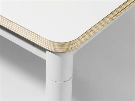 white laminate table top buy the muuto base dining table white at nest co uk