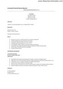 licensed practical resume free resume templates