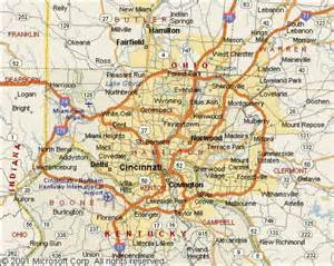 Cincinnati Ohio Map by Map Of Cincinnati Ohio Map Holiday Travel
