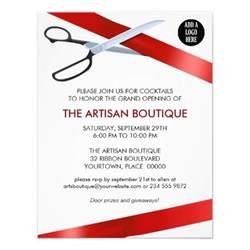 grand opening invitation templates ribbon cutting grand opening card paper ribbon