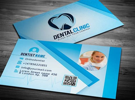 dentist business card template dentist business card template graphicdiamonds